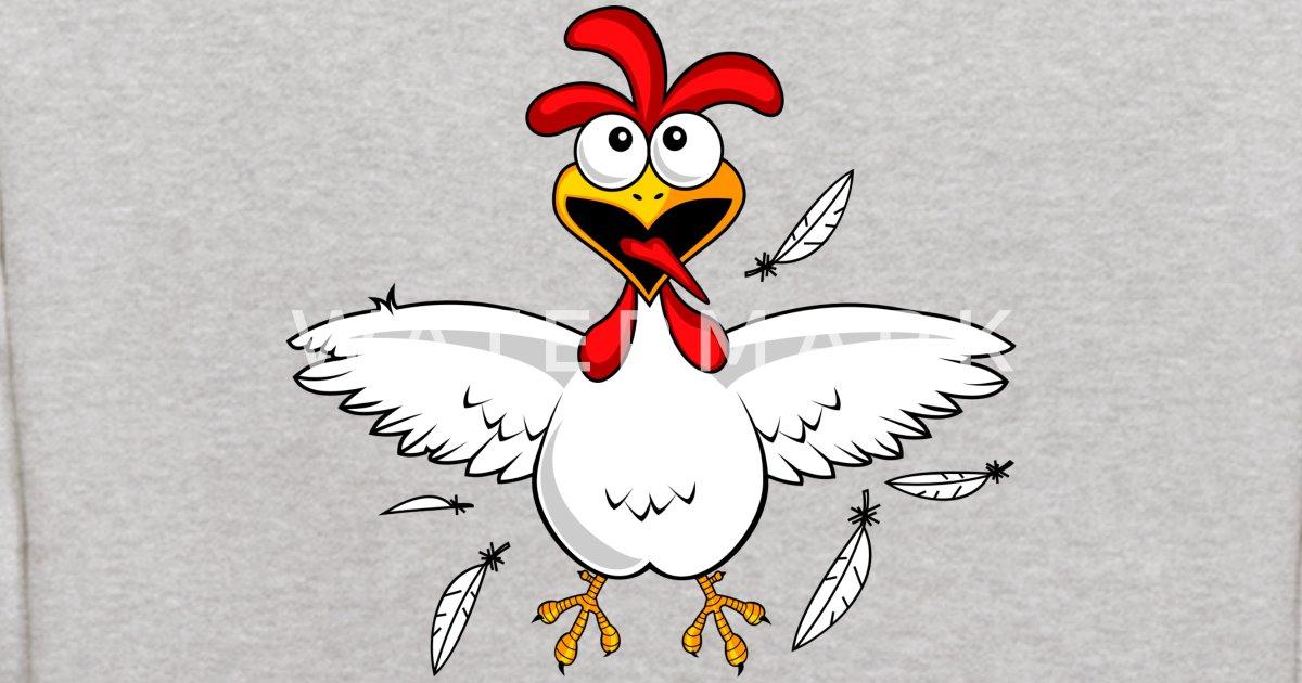 Funny Cartoon Chicken Kids Hoodie Spreadshirt