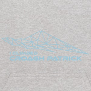 Geometric Design— I climbed Croagh Patrick - Kids' Hoodie