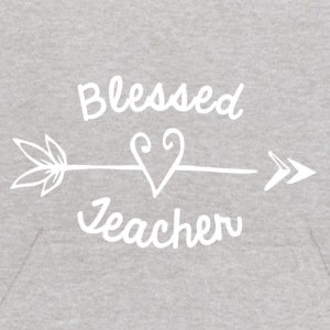 Blessed Teacher with Arrow and Heart - Kids' Hoodie