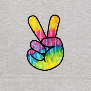 Peace Sign Hand -Psychedelic Finger T-Shirt - Kids' Hoodie