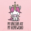 My unicorn ate my homework - Kids' Hoodie