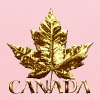 Gold Canada Maple Leaf Souvenirs Gifts - Kids' Hoodie