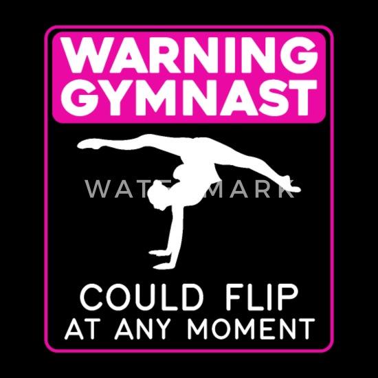 Gym Childrens Hoodie Gymnastics Warning Gymnast Funny Kids Exercise