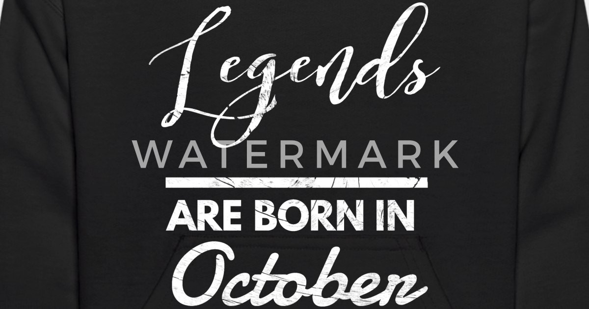 October Legends Birthday Shirt Design Kids Hoodie