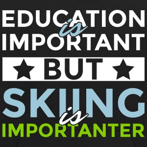 Education is important but skiing is importanter - Kids' Hoodie