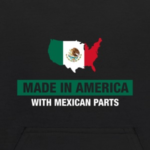Made In America With Mexican Parts Mexico Flag - Kids' Hoodie