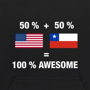 Half Chilean Half American 100% Awesome Flag Chile - Kids' Hoodie