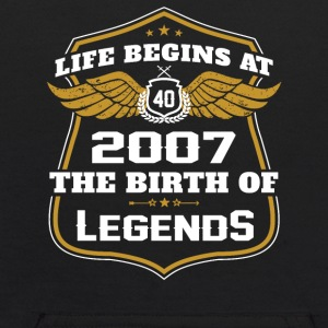 Life Beigns At 2007 The Birth Of Legends - Kids' Hoodie