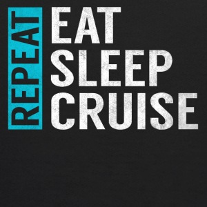 Eat Sleep Cruise Repeat Funny Vacation Crusing - Kids' Hoodie