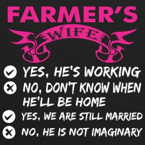 Farmers Wife Yes Hes Working - Kids' Hoodie