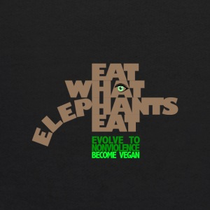 EAT WHAT ELEPHANTS EAT. GO VEGAN. - Kids' Hoodie