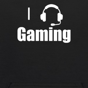 I Love,Heart Gaming Headset Cool Video Game - Kids' Hoodie