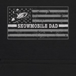Snowmobile Flag Snowmobile Riding Dad Snowmobile Clothing - Kids' Hoodie