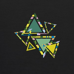 abstract triangles - Kids' Hoodie