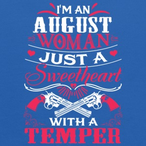 I'm an august woman Just a sweetheart with temper - Kids' Hoodie