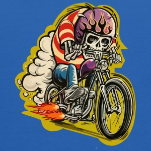 Skull riding a classic motorcycle - Kids' Hoodie
