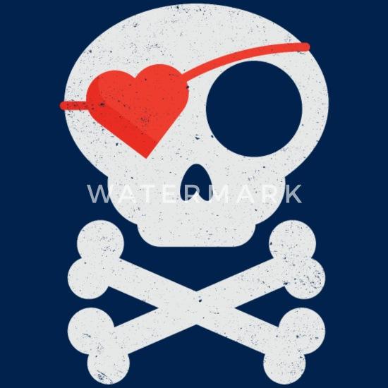 Kids Pirate Flag Pocket T-shirt Funny Skull Crossbones Mermaid Cool Gift Top