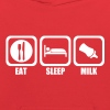 eat sleep milk - Kids' Hoodie