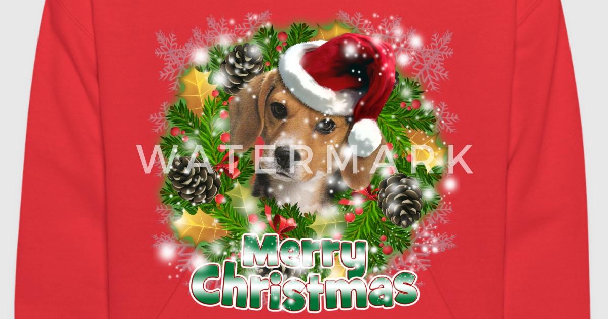 dog lover merry christmas beagle by magikal1 spreadshirt - Christmas Beagle