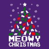 Meowy Christmas Cat Tree Ugly - Crewneck Sweatshirt