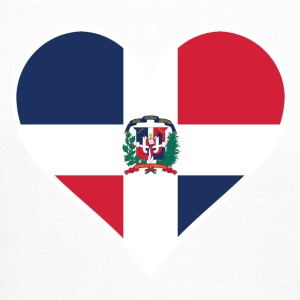 Dominican Flag Heart - Crewneck Sweatshirt