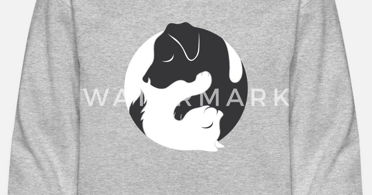 1877c385e Yin Yang Dog Cat Couple Matching Shirt Men Womens Unisex Crewneck Sweatshirt  | Spreadshirt