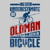 Old Man With Bicycle - Crewneck Sweatshirt