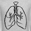 LUNGS breathe breath lung rough - Crewneck Sweatshirt