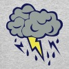 lightning cloud rain storm 606 - Crewneck Sweatshirt
