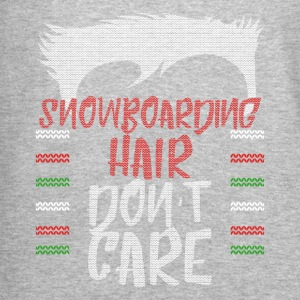 Ugly sweater christmas gift for snowboarding - Crewneck Sweatshirt