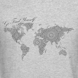 World Map as a Mandala - Go find yourself Black - Crewneck Sweatshirt