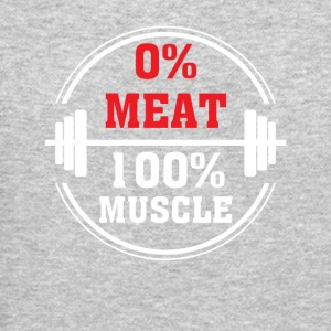 0 Meat 100 Muscle Vegan Muscle Cute Shirt - Crewneck Sweatshirt