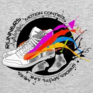 Colored shoe runners paradise graphic art - Crewneck Sweatshirt