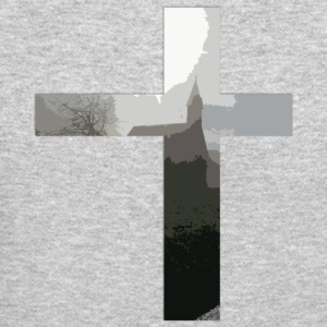 Crucifix And Church - Crewneck Sweatshirt