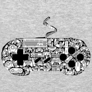 gamer controllers artwork - Crewneck Sweatshirt