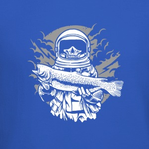 The dead astronaut catches the fish. - Crewneck Sweatshirt