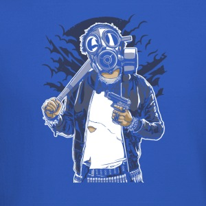 Gas Mask Bastard. The crazy thug and streetfighter - Crewneck Sweatshirt