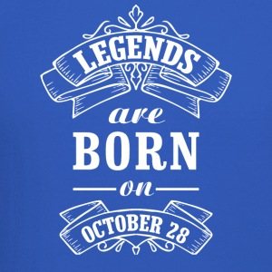 Legends are born on October 28 - Crewneck Sweatshirt