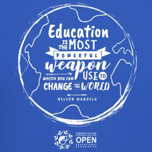 Education is the most powerful weapon (White) - Crewneck Sweatshirt