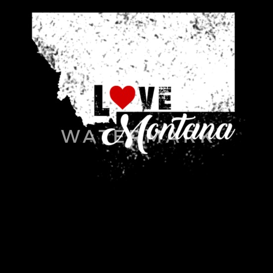 Montana Long Sleeve Sweatshirt Love Home Heart Unisex Men Women State
