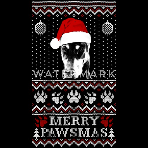 Ugly Christmas Sweater For Doberman Pinscher Lov Unisex Crewneck