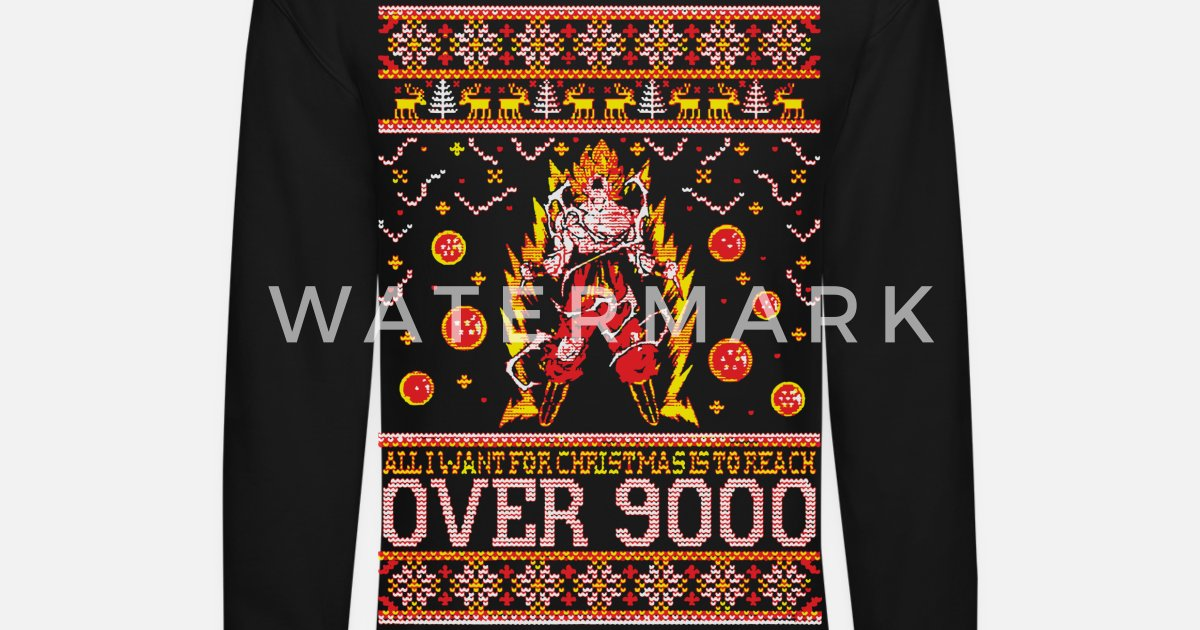 Reach Over 9000 Xmas Sweater Unisex Crewneck Sweatshirt Spreadshirt