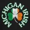 Michigan Irish Shamrock Flag Clothing Apparel - Crewneck Sweatshirt