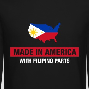 Made In America With Filipino Parts Philippines - Crewneck Sweatshirt