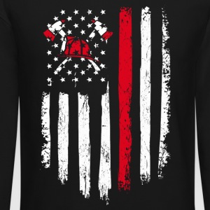 Firefighter Gift Distressed American Flag - Crewneck Sweatshirt