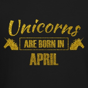 unicorns are born in april - gold glitter bday - Crewneck Sweatshirt