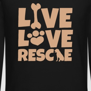 LIVE LOVE RESCUE DOG - Crewneck Sweatshirt