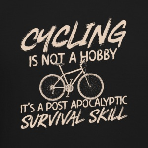 Cycling is not hobby.It's a survival skill - Crewneck Sweatshirt