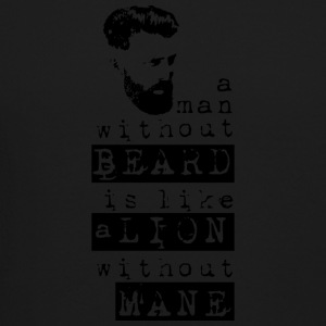 a man without a beard is like a lion without mane - Crewneck Sweatshirt