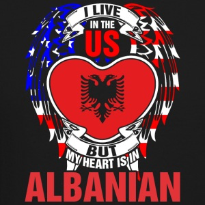 I Live In The Us But My Heart Is In Albanian - Crewneck Sweatshirt